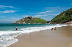 Praia brasileira tropical Fotos de Stock Royalty Free