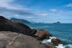 Praia brasileira tropical Fotografia de Stock