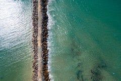 Praia Breakwall dos pilotos Imagem de Stock Royalty Free
