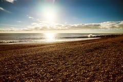 Praia brilhante de Brigghton Fotos de Stock