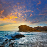Praia Cabo de Gata de Almeria Playa del Monsul Foto de Stock