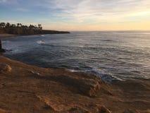praia Cali do por do sol imagens de stock