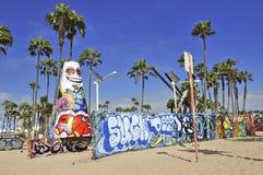 Praia Califórnia de Veneza, EUA Fotografia de Stock Royalty Free
