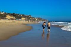 Praia Califórnia de Zuma Fotos de Stock