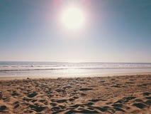 Praia Califórnia E.U. de Malibu Fotos de Stock