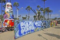 Praia Califórnia de Veneza, EUA Fotos de Stock