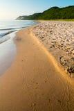Praia calma do Lago Michigan Fotos de Stock Royalty Free