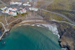 Praia calma dos céus foto de stock royalty free