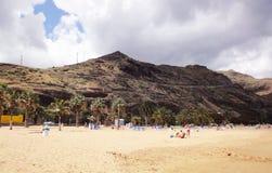 Praia canarina, Tenerife Imagem de Stock Royalty Free