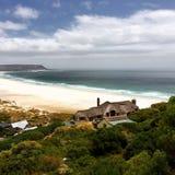 Praia Cape Town de Kommetjie imagem de stock