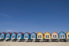 Praia-casas pequenas coloridas Fotos de Stock Royalty Free