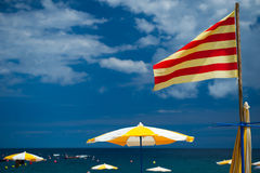 Praia Catalan Foto de Stock