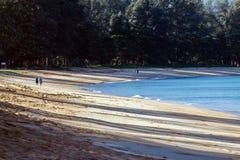 Praia cedo na manhã Imagens de Stock