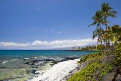 Praia celestial de Havaí Imagens de Stock