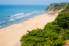 Praia central de Varkala Fotos de Stock
