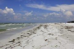 Praia chave de Lido, Sarasota, FL Foto de Stock Royalty Free