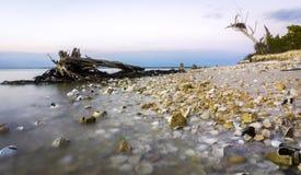 Praia chave do pavilhão Fotos de Stock Royalty Free