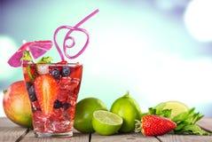 Praia, cocktail, bebida fotografia de stock