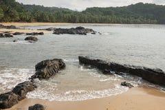 Praia Coco, Sao wolumin i Principe, Afryka Obraz Stock