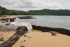 Praia Coco, Sao wolumin i Principe, Afryka Obrazy Stock