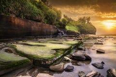 Praia colorida imagem de stock