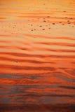 Praia com cores do nascer do sol fotografia de stock royalty free