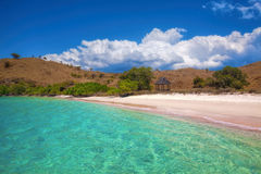 Praia cor-de-rosa imagem de stock royalty free