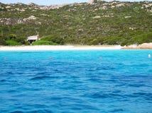 Praia cor-de-rosa sardinia da paisagem Imagens de Stock Royalty Free