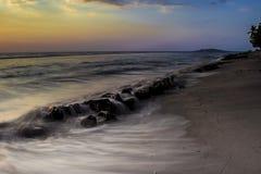 Praia coral Fotografia de Stock Royalty Free