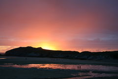 Praia Cornish Fotos de Stock