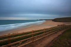 Praia Cornualha de Perranporth, Inglaterra fotos de stock royalty free