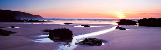 Praia Cornualha de Porthtowan Imagem de Stock