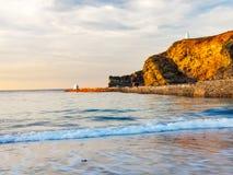 Praia Cornualha de Portreath Foto de Stock Royalty Free