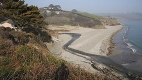 Praia Cornualha Inglaterra Reino Unido da baía de Gerrans video estoque