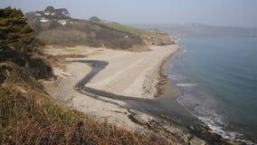 Praia Cornualha Inglaterra Reino Unido da baía de Gerrans filme