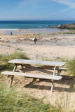 Praia Cornualha Inglaterra Reino Unido de Poldhu imagem de stock royalty free