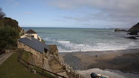 Praia Cornualha Inglaterra Reino Unido do St Agnes video estoque