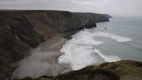 Praia Cornualha norte Inglaterra Reino Unido de Portreath vídeos de arquivo