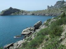 Praia crimeana Fotos de Stock