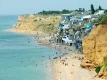 A praia crimeana Fotografia de Stock