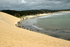 Praia cristalina do mar em natal Foto de Stock Royalty Free