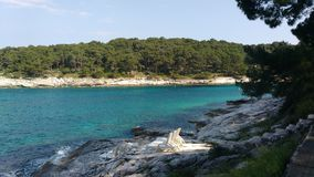 Praia croata Imagem de Stock Royalty Free