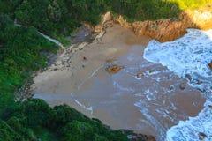 Praia da água branca Imagens de Stock Royalty Free