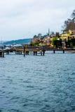 Praia da água da doca de Seattle Puget Sound Imagem de Stock Royalty Free