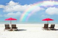 Praia da areia Imagem de Stock Royalty Free