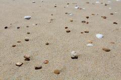 Praia da areia Fotos de Stock
