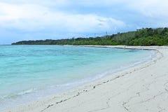 Praia da areia da estrela Fotografia de Stock