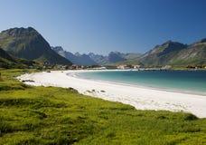 Praia da areia de Lofoten Imagens de Stock Royalty Free