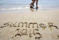 Praia da areia do verão 2015 Imagem de Stock