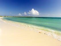 Praia da areia do Virgin Imagem de Stock Royalty Free